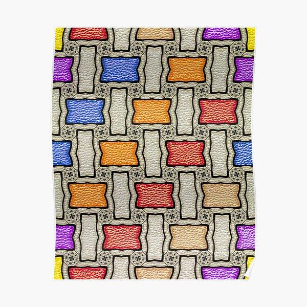 Victorian Conblock in Colors Poster