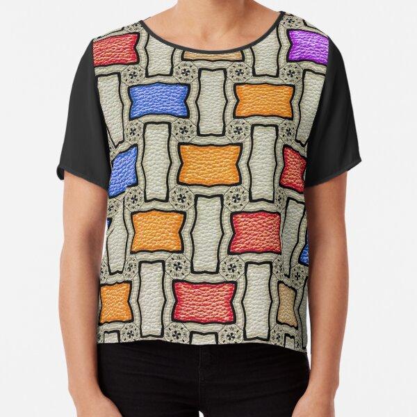Victorian Conblock in Colors Chiffon Top