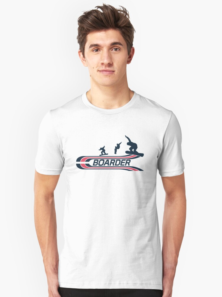 Boarder Unisex T-Shirt Front