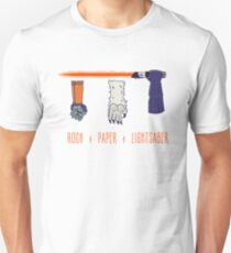 Rock Paper Lightsaber Unisex T-Shirt