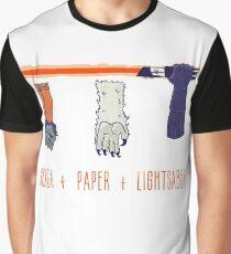 Rock Paper Lightsaber Graphic T-Shirt