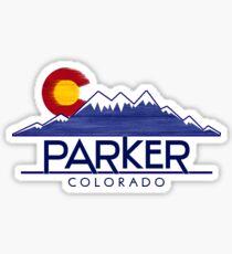 Parker Colorado wood mountains Sticker