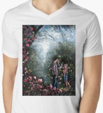 Romantic Men's V-Neck T-Shirt