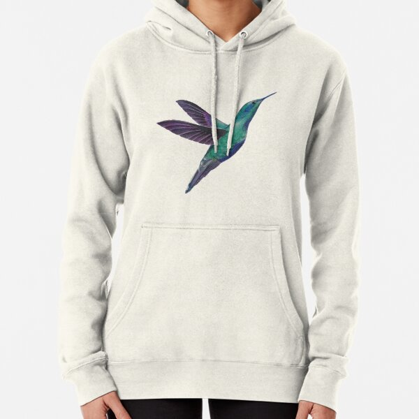 This hummingbird will accompany you in each new beginning. Pullover Hoodie