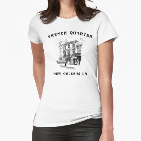 Mardi Gras French Quarter New Orleans Fitted T-Shirt