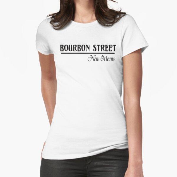 Mardi Gras Bourbon Street New Orleans Fitted T-Shirt