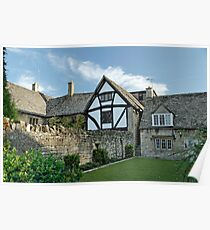 Stone Cottages in Broadway, Gloucestershire Poster