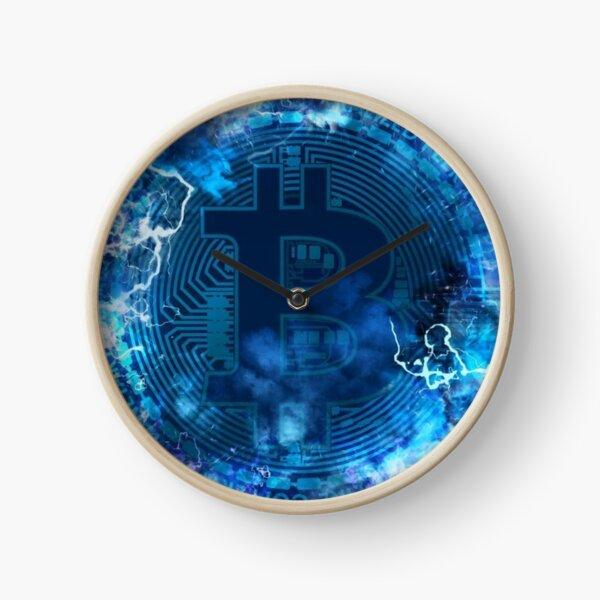 BTC Blockchain in blue Reloj