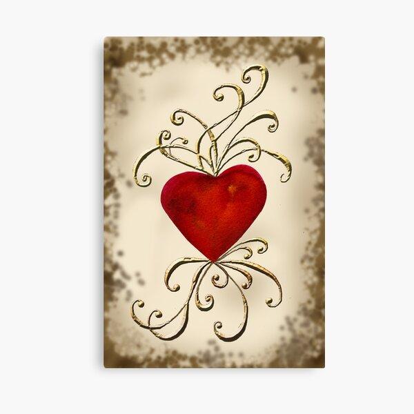 Heart Aswirl Canvas Print