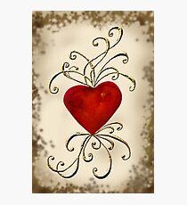 Heart Aswirl Photographic Print