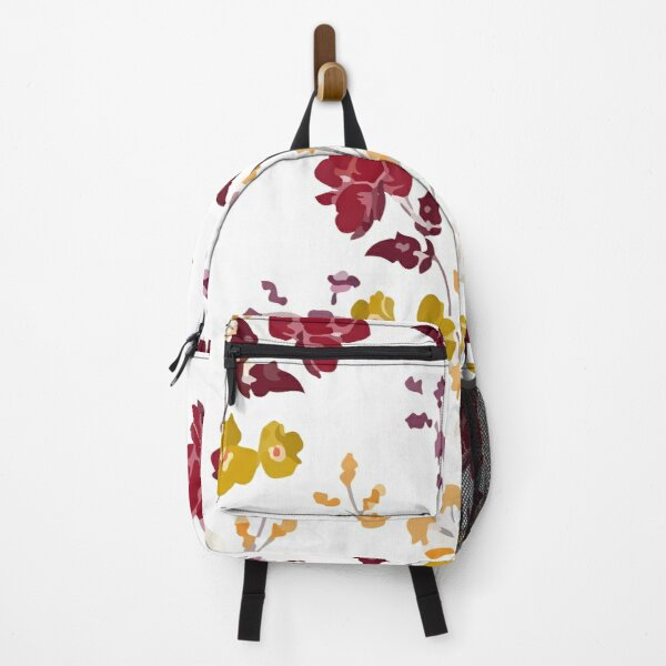 Romantic autumn blooming flowers botanical Backpack