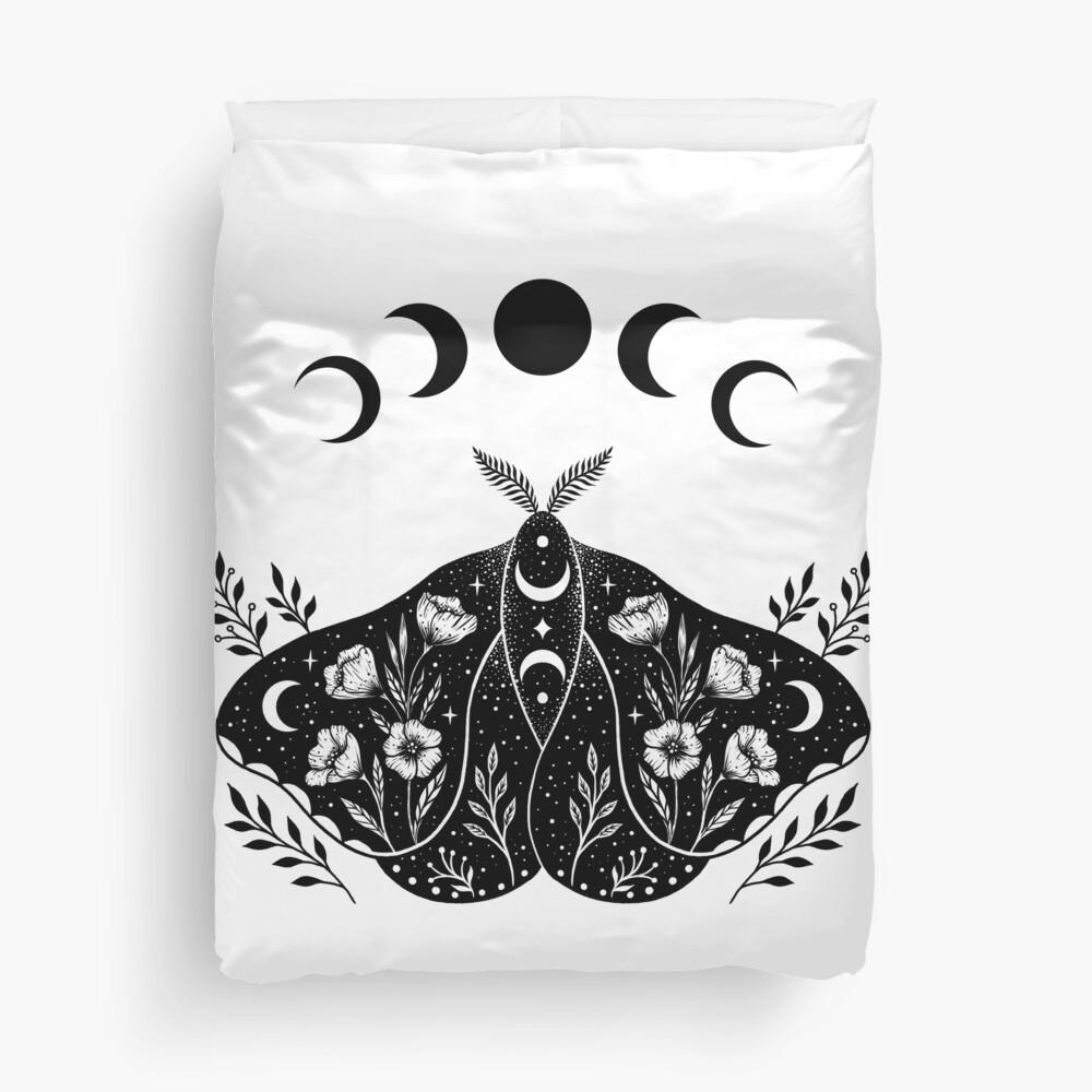 Luna and Moth Duvet Cover