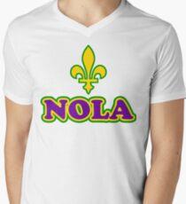 NOLA New Orleans Louisiana Men's V-Neck T-Shirt