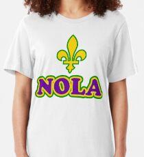 NOLA New Orleans Louisiana Slim Fit T-Shirt