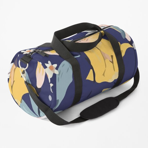 Seamless blooming pattern with white pink Duffle Bag