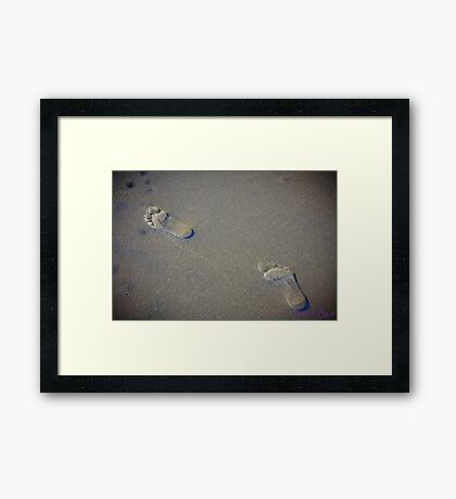 footprints .... Framed Print