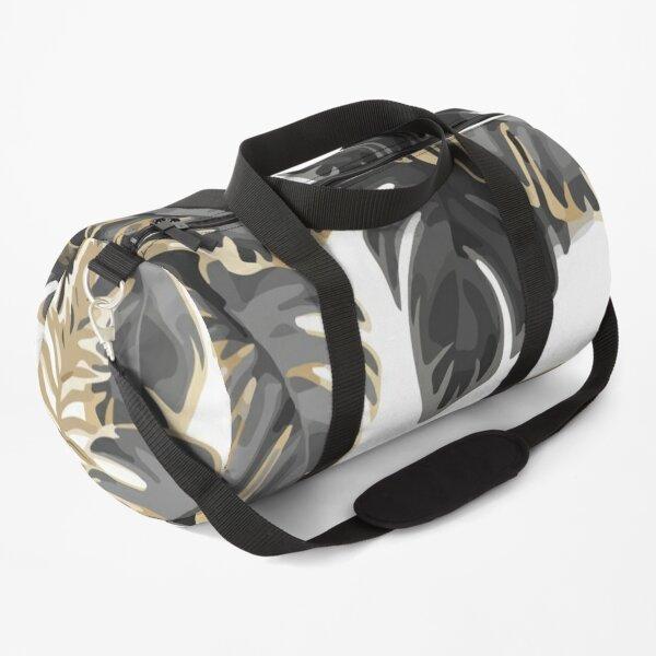 Seamless pattern dark leaves Duffle Bag