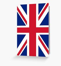 Union Jack Flag Greeting Card