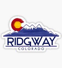 Ridgway Colorado wood mountains Sticker