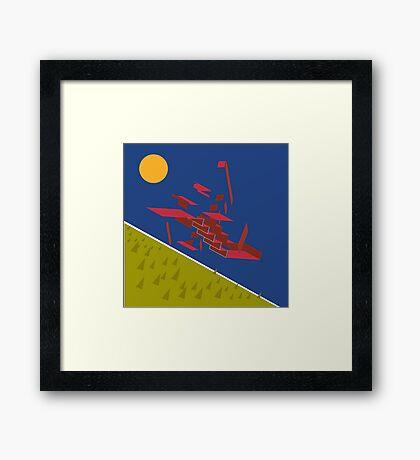 the ideal crash Framed Print