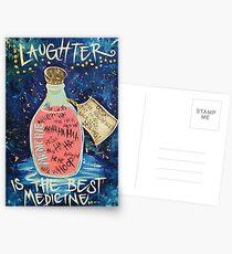 Laughter Is Lifes Best Medicine Postcards