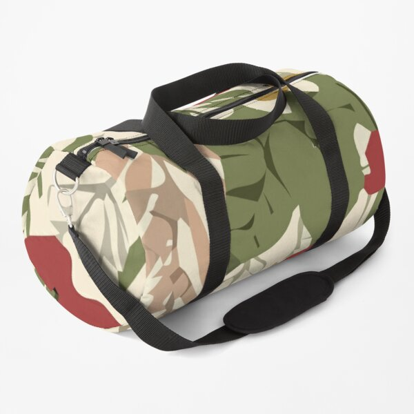 Stylish abstract seamless pattern with tropical leaves Duffle Bag