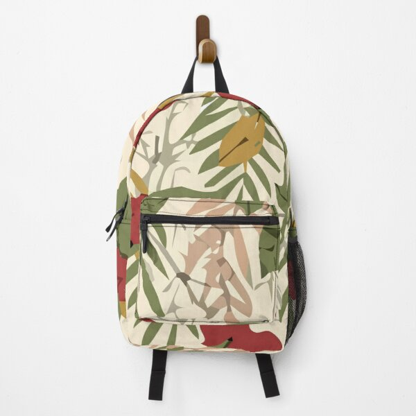 Stylish abstract seamless pattern with tropical leaves Backpack
