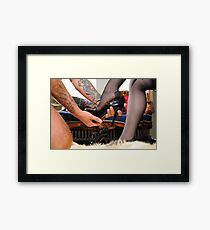 The Goddess's worshipped Shoes Framed Print
