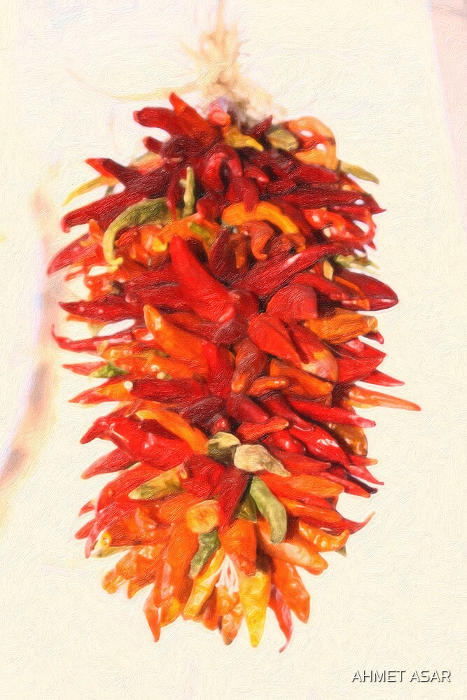 Chili Peppers Ristra Decoration by MotionAge Media