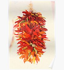 Chili Peppers Ristra Decoration Poster