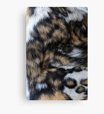 African Wild Dog Fur Canvas Print
