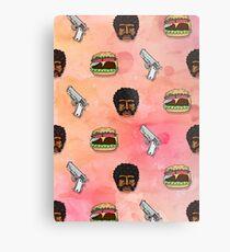Pulp Fiction Big Kahuna Burger Pattern Metal Print