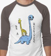 be a herbivore Men's Baseball ¾ T-Shirt