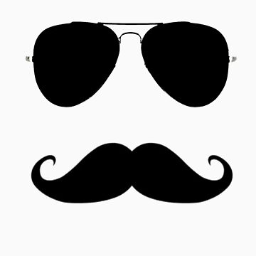 mustache black by woodywoodpeker