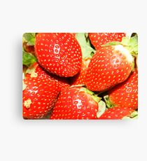 Strawberry backgrounds. Canvas Print