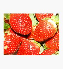 Strawberry backgrounds. Photographic Print