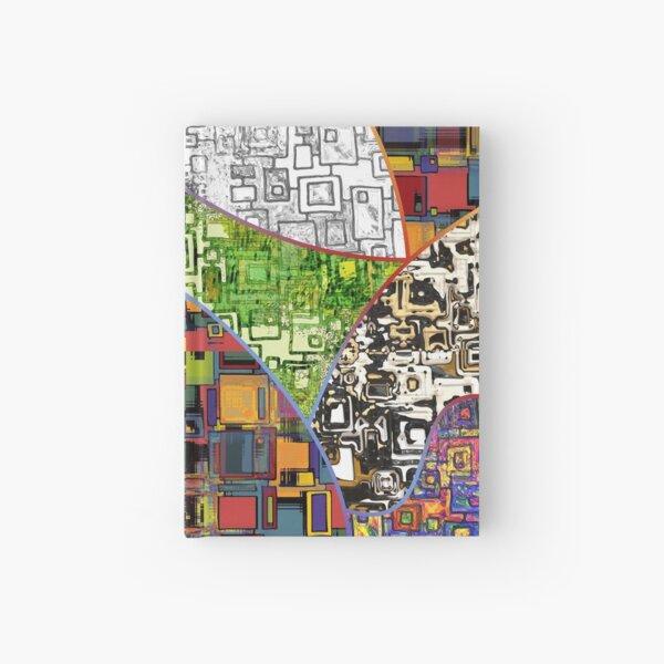 Abstrakte Rechtecke Muster Wallpaper 1 Notizbuch