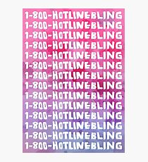 Hotline Bling Drake Watercolour Illustration Photographic Print