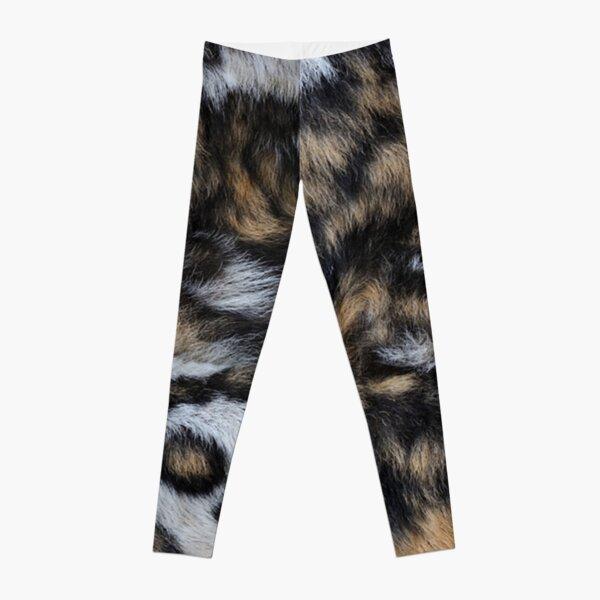 African Wild Dog Fur Leggings