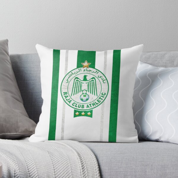 Raja Casablanca ultras hooligans fans football Morocco Throw Pillow