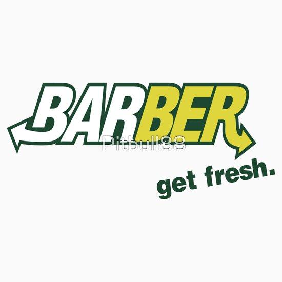 "TShirtGifter presents: Barber Get Fresh  ""Subway"" | Unisex T-Shirt"