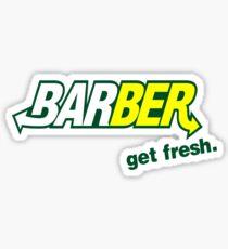 """Barber Get Fresh  """"Subway"""" Sticker"""
