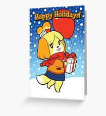 Animal Crossing Seasonal Card Greeting Card