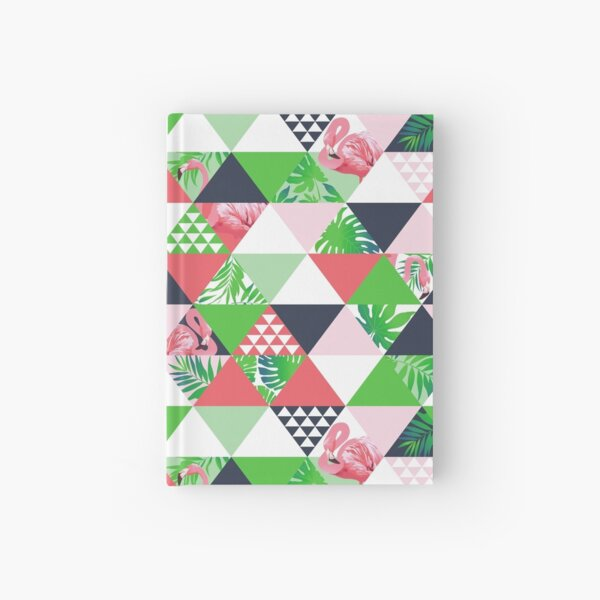 Dreiecksmuster - Flamingoblätter 1 Notizbuch