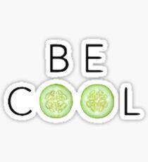 Be Cool As A Cucumber Print Sticker