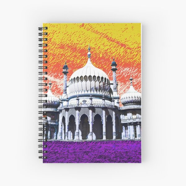 Brighton Pavilion, Brighton, England (orange sky) Spiral Notebook