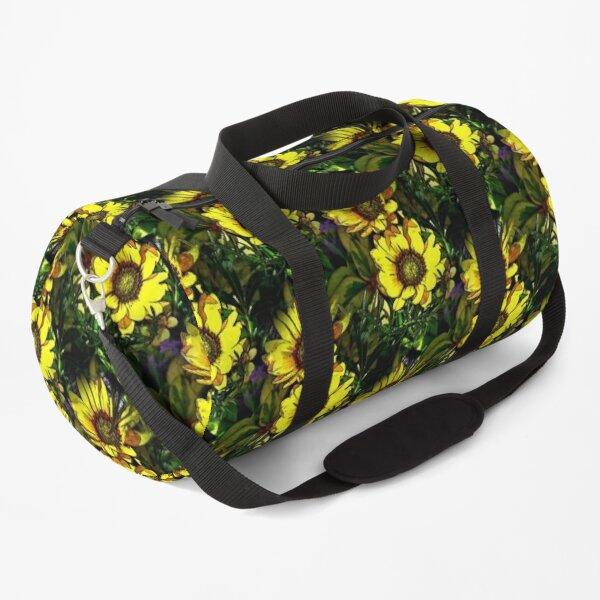Yellow Daisy Flowers Art Duffle Bag