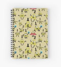Bill Cipher Pattern Spiral Notebook
