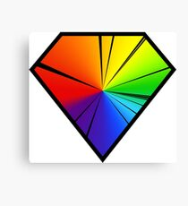 Diamonds - Carbon Emission Spectrum Canvas Print