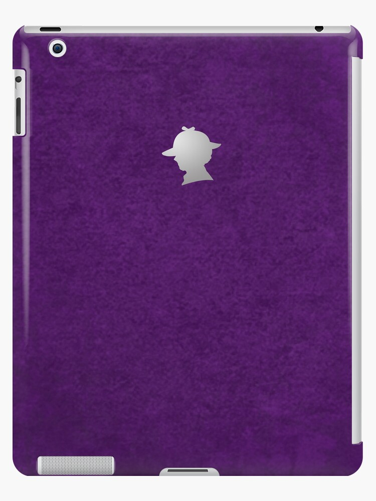 Sherlock Silhouette iPad/iPhone Case - Purple by jlechuga